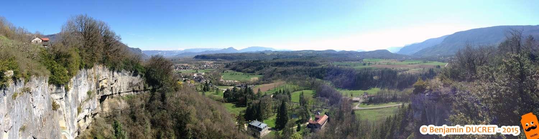 Vue panoramique sur Artemare