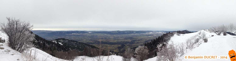 Vue panoramique du Valromey depuis le Colombier
