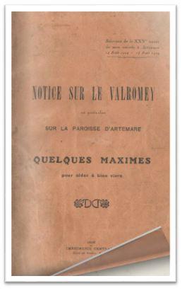 Notice sur le Valromey