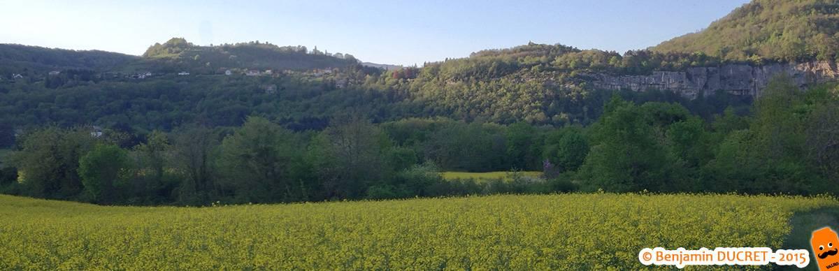 Champ de Colza et Cascade de Cerveyrieu