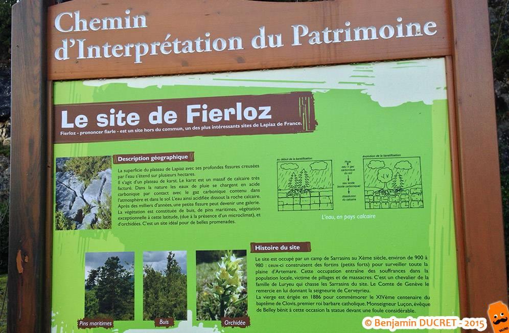 Fierloz - Panneau du Chemin du Patrimoine