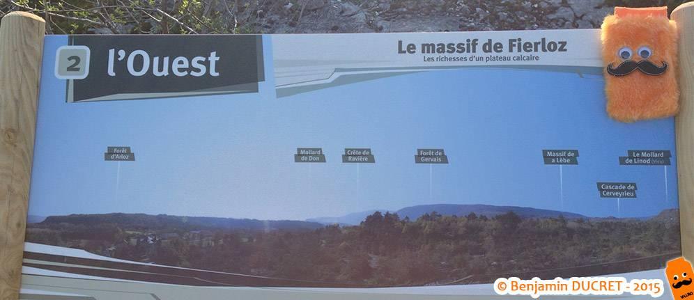 Panneau explicatif sur le Massif du Fierloz